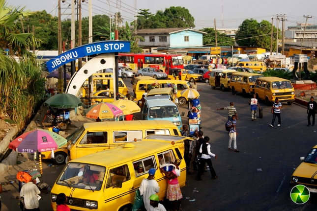 Jibowu Bus Stop by Bayo Omoboriowo